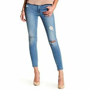 Hudson mid rise super skinny ankle jeans
